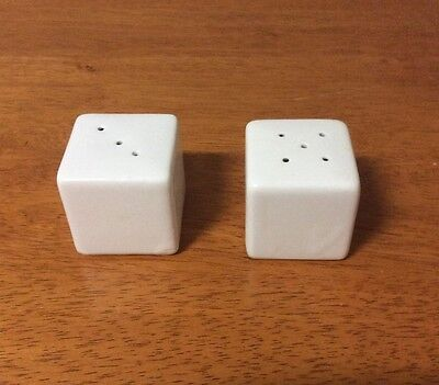 White Ceramic Salt and Pepper shakers