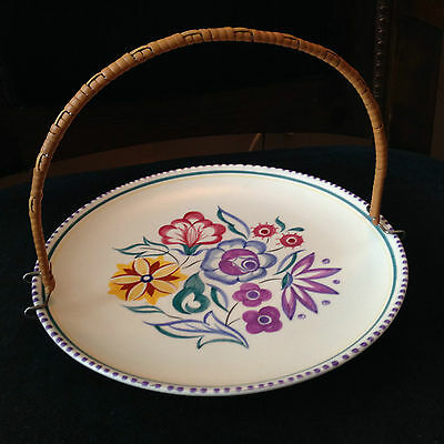 Poole Pottery Decorated Truda Carter Floral  Plate 1955 -1959