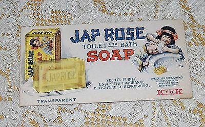 """JAPROSE SOAP Blotter - 6 BY 3""""....TOILET AND BATH SOAP......LOOK"""