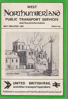 Northumberland Bus Timetable Book West Northumberland May 1980