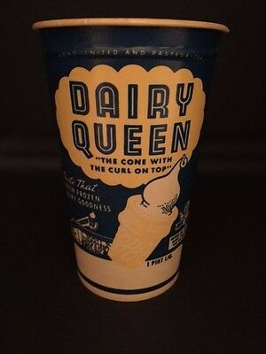 """1960's Dairy Queen, """"Un-Used"""" 1-Pint Drinking Cup"""