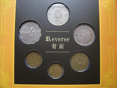 Hong Kong 6 coin set 1970-80-s 10 Cents - 5 $ Dollars with Queen EII on obverse