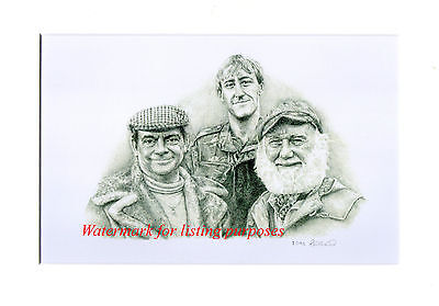 ONLY FOOLS AND HORSES CAST Limited Edition Pencil Print (Delboy, Rodney, Albert)
