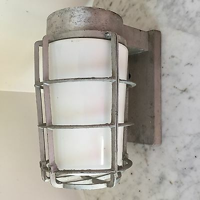 VINTAGE INDUSTRIAL Exterior Explosion Proof STEAMPUNK Light White Glass