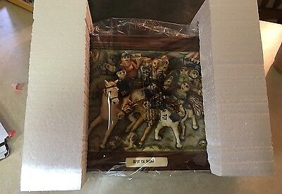 Picturesque Harmony Kingdom Picture Plaque Best In Show Horse Racing  Lt Ed