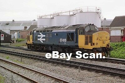 INVERNESS RAILWAY DEPOT, CLASS 37, 37-416. 1988 dated photo