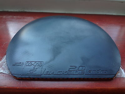 used table tennis rubber Andro BACKSIDE 2.0 D   W155mm x H160mm