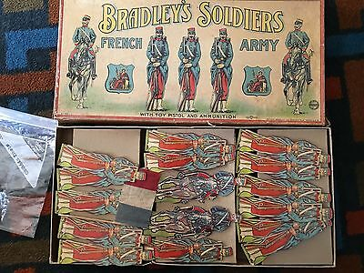 Milton Bradley - Soldiers Of The French Army Game. Paper Soldiers. 1920s