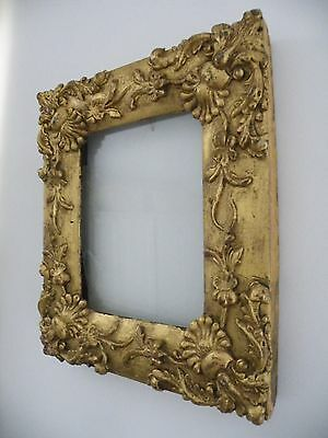 Fabulous Antique/early Vintage Bold Ornate Giltwood Rococo Picture Frame