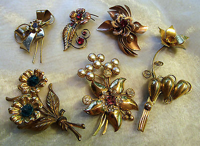 Old Vintage to Antique Lot 5 Pins 1 Pin & Earrings Set J4315