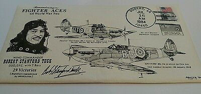 Postal History WWII  Ace RAF Wing Cmdr. Robert S. Tuck commemorative cover 1984