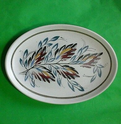 Hand Painted Oval Denby Stoneware Plate
