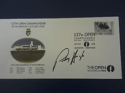 Padraig Harrington personally signed 2008 Open Golf postal cover