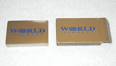 World Airways Airlines Playing Cards Sealed
