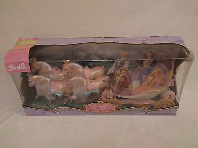 """Barbie Princess Royal Carriage Boxed 27"""" 4 Horses New old stock see description"""