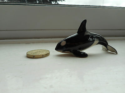 Killer Whale, Orca- Detailed, Beautiful  Miniature Pottery  Killer Whale