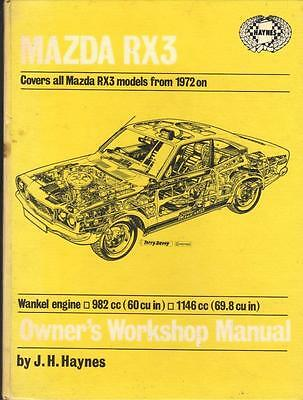 Mazda Rx3,saloon,estate & Coupe,rotary Haynes Workshop Manual 1972-1976