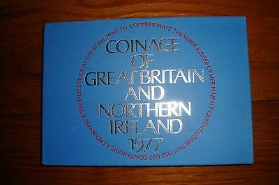 British coin set 1977 with sleeve 39 years old