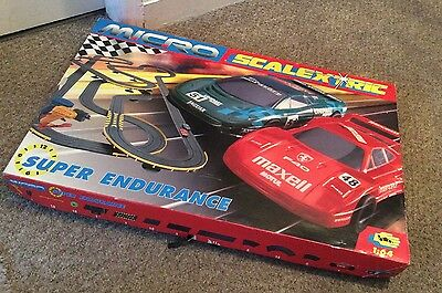 Micro Scalextric Super Endurance Track With 2 Cars - Boxed