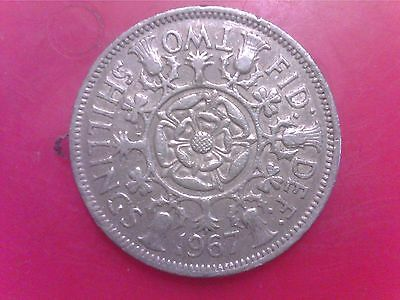 Great   Britain   Two     Shillings    1967