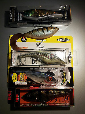 Buster Jerk II, Rapala glidin rap, Zalt, Cormoran King of Jerk, Storm Wild Eye