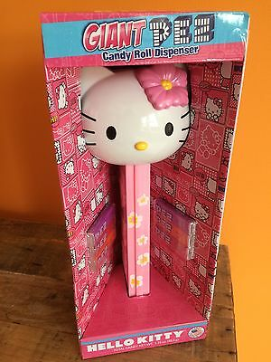 Hello Kitty Giant Pez Candy Roll Dispenser With Candy Rolls Limited Edition Usa