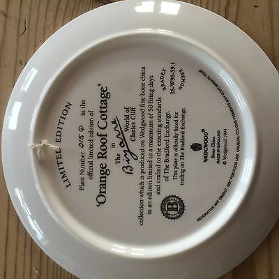 Clarice Cliff wedgwood limited edition orange roof cottage plate