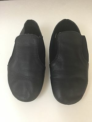 Black Leather Toddler Dance Jazz Shoes Size 11 1/2