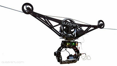 Zipline cable camera carbon fiber trolley on rope