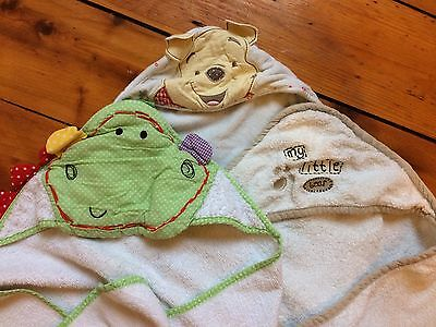 Three Baby Towels With Hoods. Including Mamas & Papas And Winnie The Pooh