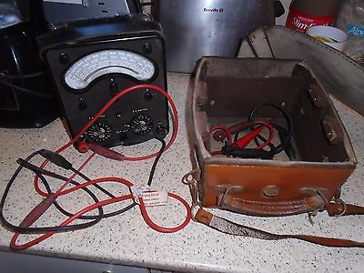Vintage Universal Avo Meter, Model 7, In Brown Leather Carry Case