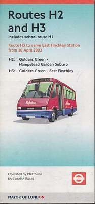 Route H2 London Transport Bus Timetable Lft Apr 2002