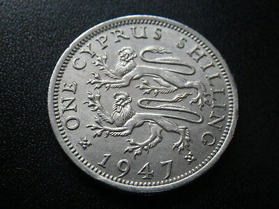 Cyprus 1947 One Shilling (VF)