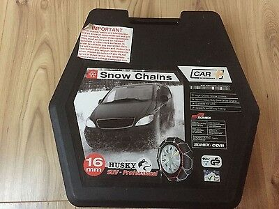 SUMEX HUSKY Snow Chains 16mm heavy duty 4x4 4WD SUV Pro HUPR235 Never Used