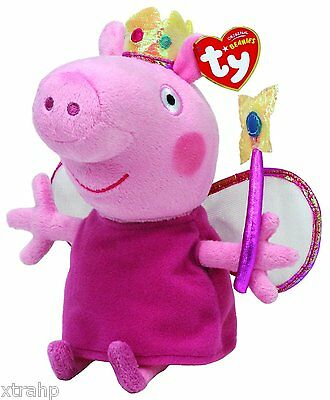 "Princess Peppa Pig 7"" Plush Beanie Baby Set Toy Doll TY"