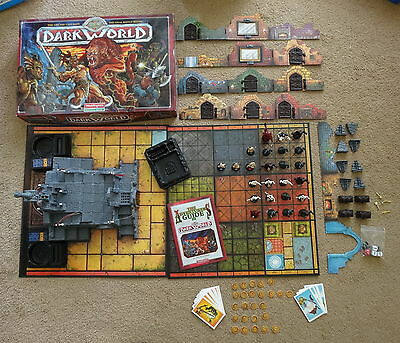 DARK WORLD STRATEGY ROLE PLAYING BOARD GAME by WADDINGTONS 100% COMPLETE