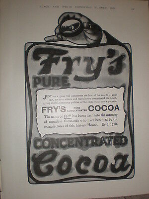 Fry's Cocoa burnt into memory 1905 old advert