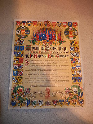 Souvenir Of The Opening Ceremony Empire Exhibition Scotland 1938 By His Majesty