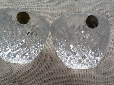 candle holders glass 3 Pairs