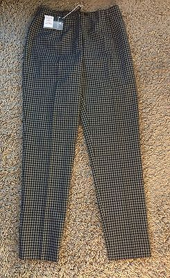 Lyle & Scott Ladies Designer Black Check Golf Trousers New With Tag Size 12