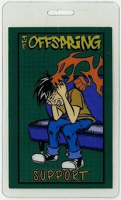 Offspring authentic 2002 tour Laminated Backstage Pass