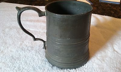 19 Cent. ANTIQUE RUSSIA RUSSIAN PEWTER TIN BEER MUG TANKARD STEIN MARKED RARE
