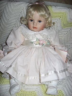 """19"""" Carly, Bisque Baby By Dolls By Pauline B. Jacobsen, Redressed, Mint!"""