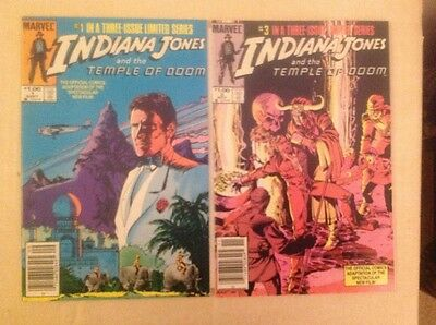 Indiana Jones and the Temple of Doom # 1 & # 3 - Near Mint