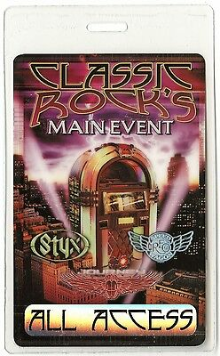 Styx authentic 2003 tour Laminated Backstage Pass