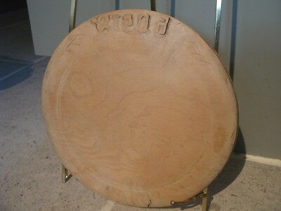 Vintage Carved Bread Board In Characterful Well Used Condition