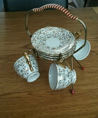 Chechoslovakian Gold Coffee Set