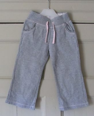 TU Girls Grey Jogging Bottoms - Age 3 Years - Used VGC