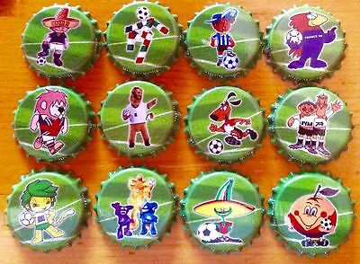 """Complete Set Of """" Pets Of World Football Championships 1960 - 2016 - Spain 2010"""