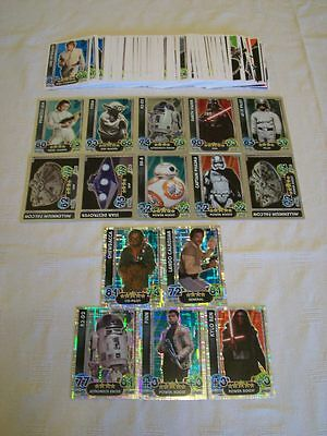 Star Wars - The Force Awakens: Force Attax = Bundle of 115 Trading Cards [B1]